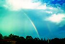 white rainbow and cloudburst by Juilee  Pryor