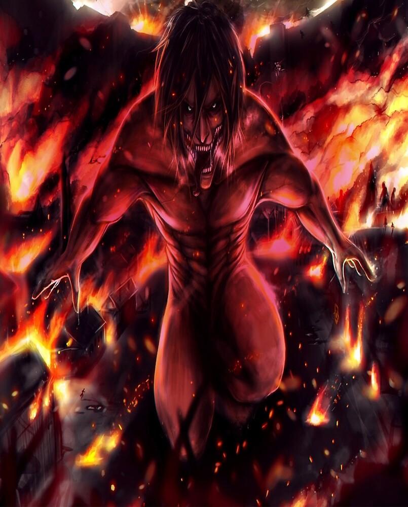 eren, attack on titan by curlsandcachos