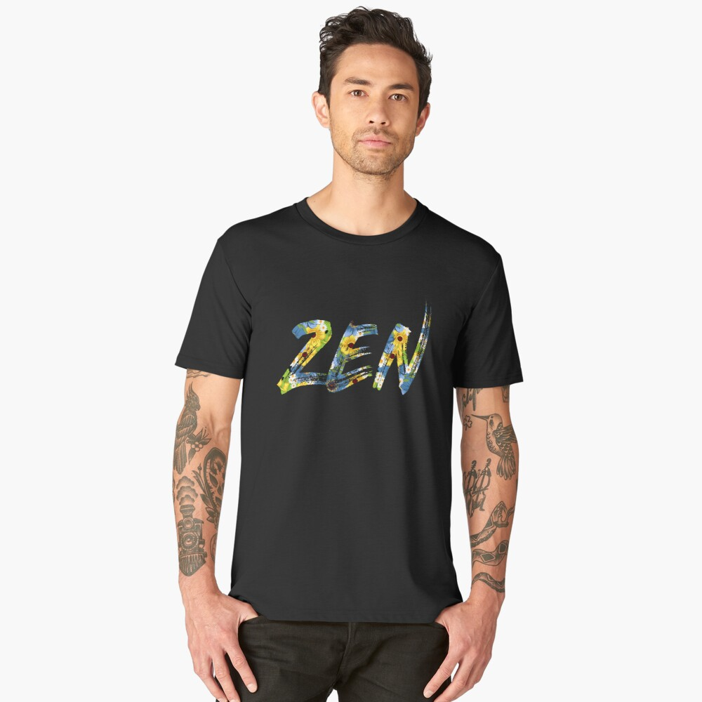 Zen Flowers | Peaceful Art Men's Premium T-Shirt Front