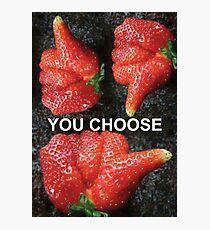 Choose Your Strawberry... Photographic Print
