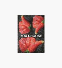 Choose Your Strawberry... Art Board