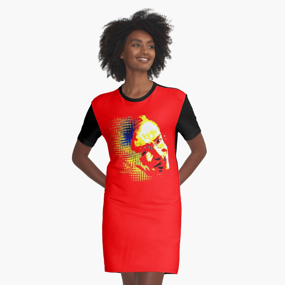 Hawking Waves Graphic T-Shirt Dress Front