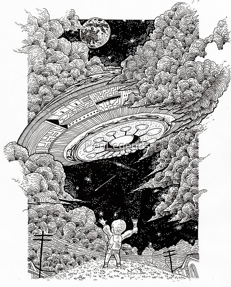 The UFO Visitation by PenLegends