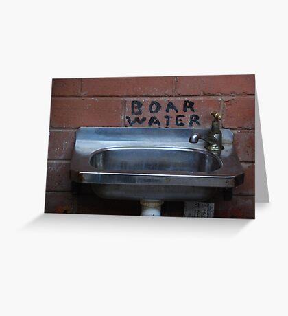 Boar's Water? Greeting Card
