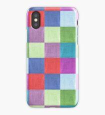 Colorful burlap iPhone Case