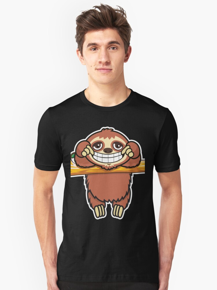 Sloth grin 2 Unisex T-Shirt Front