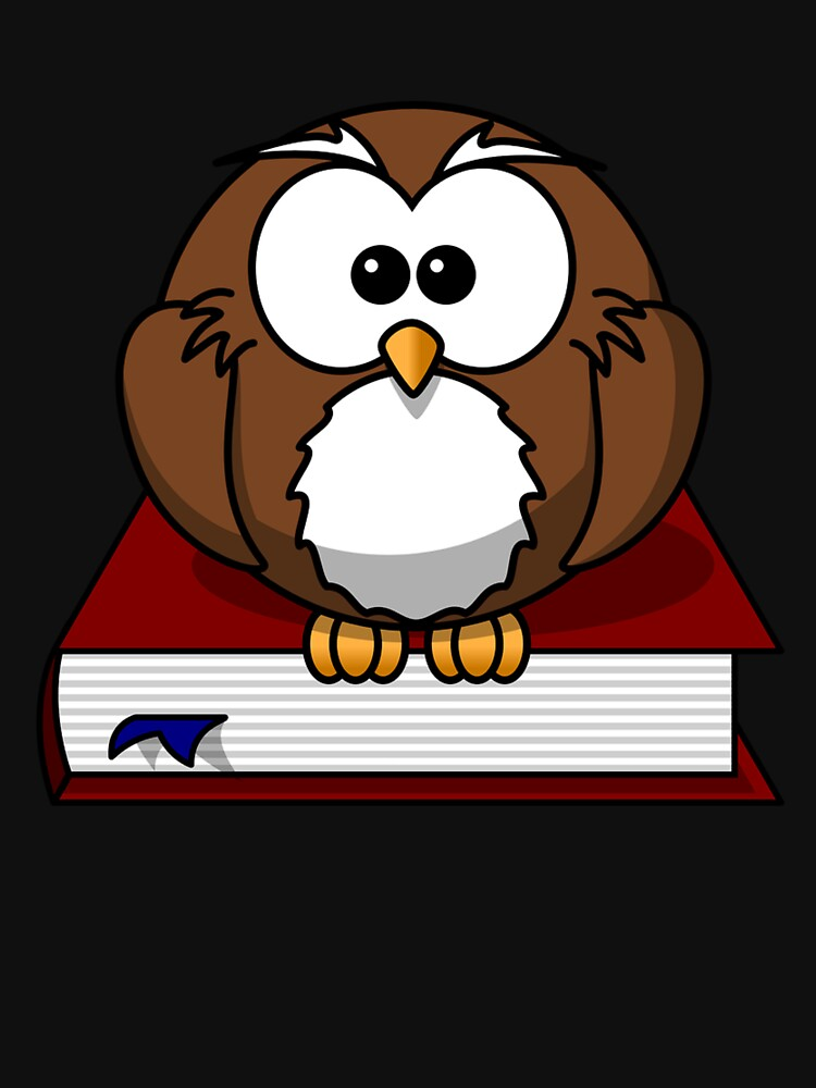 Owl with book bookworm by Scirocko