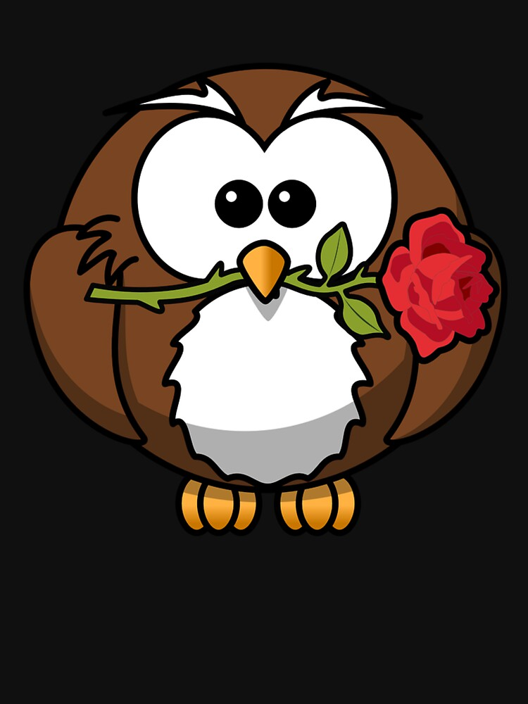 Owl with a rose flower by Scirocko