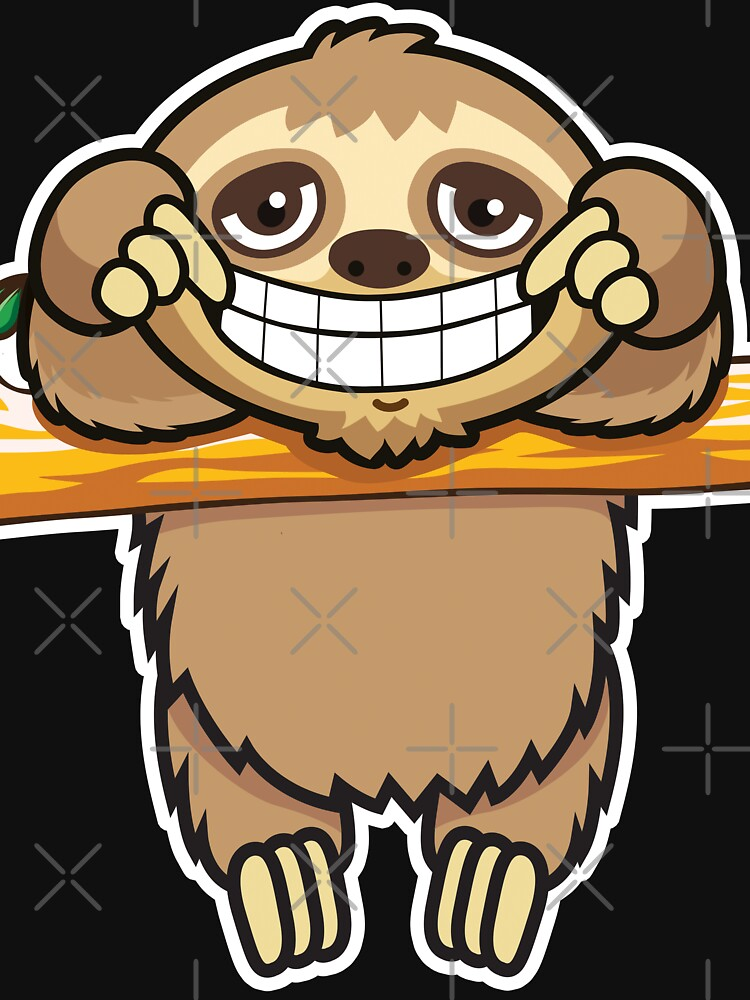 Sloth grin by plushism