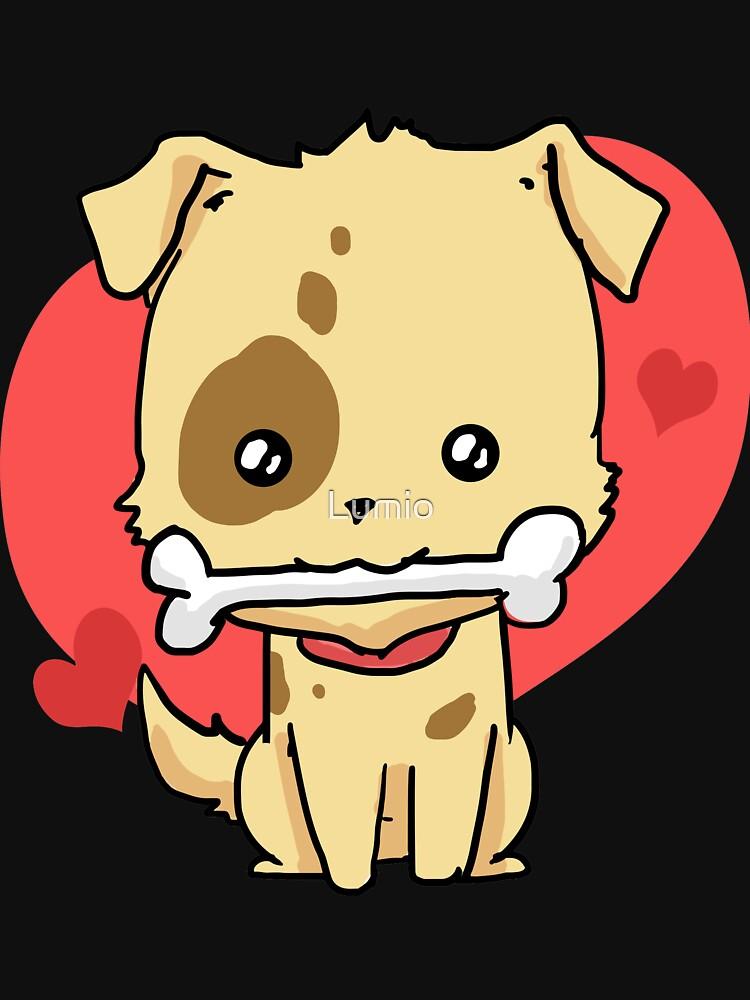 Cute Dog with Bone by Lumio