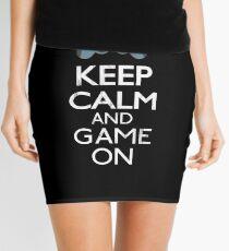 Keep Calm And game on - Funny Gift Mini Skirt