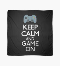 Keep Calm And game on - Funny Gift Scarf