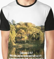 ASHBURNHAM REFLECTIONS/BIBLE VERSE COLOSSIANS; 2 v6-7 (ROOTED) Graphic T-Shirt