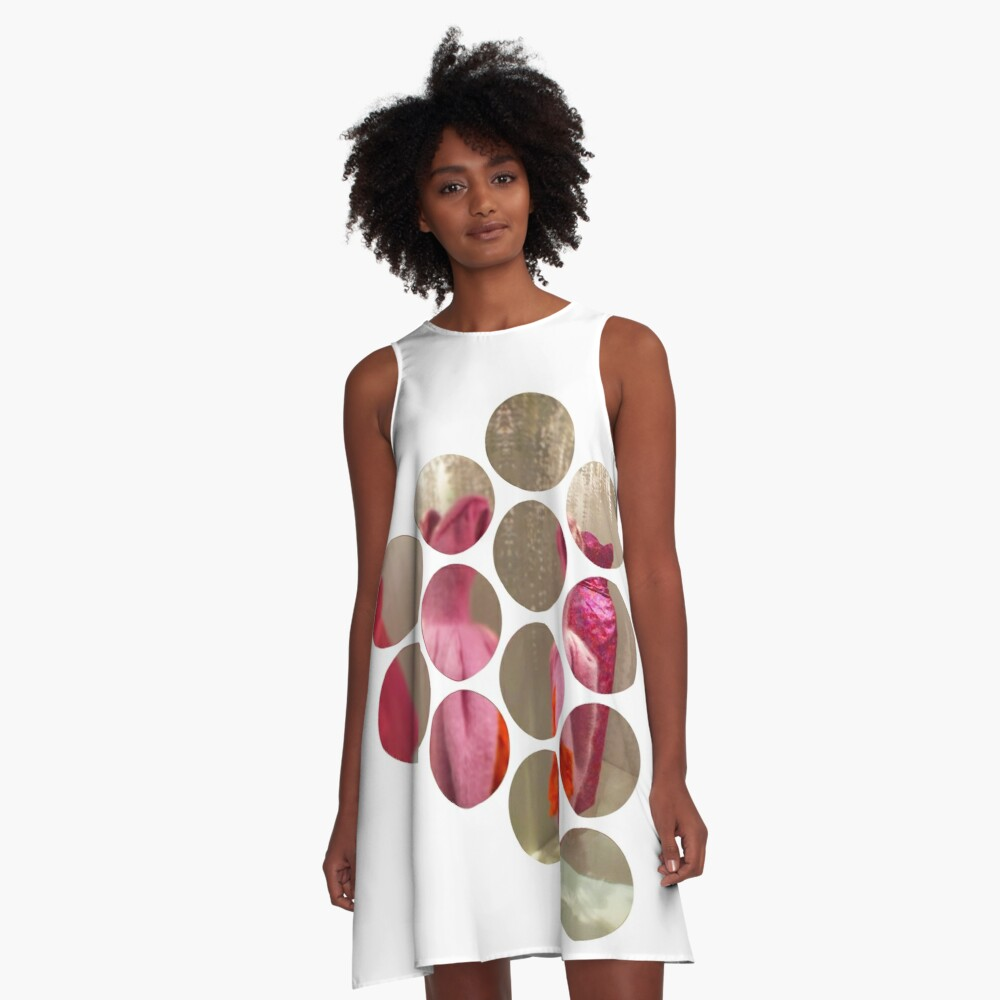 Around in Circles A-Line Dress Front