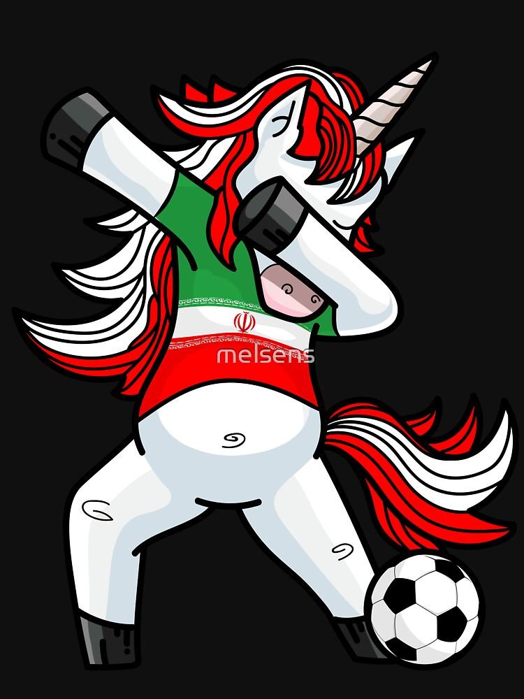 Dabbing Soccer Unicorn Iran by melsens