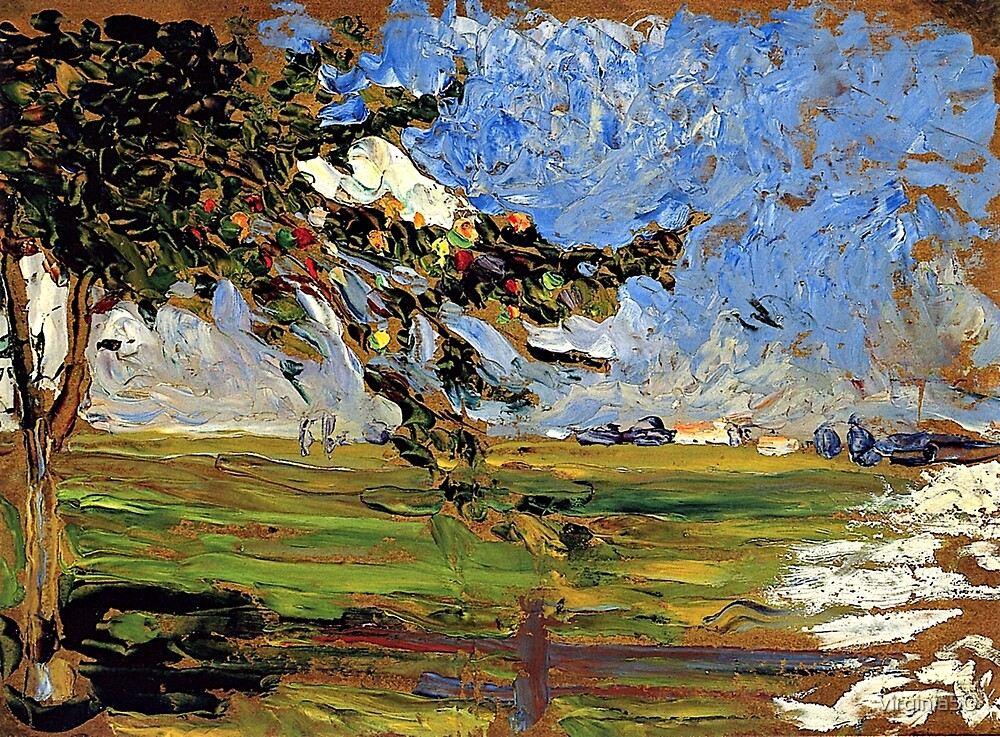 Kandinsky - Landscape with Apple Tree by virginia50