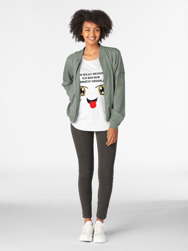 Alternative Ansicht von Neugierig? Premium Rundhals-Shirt