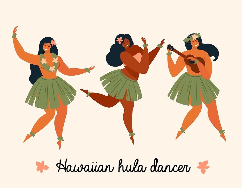 Hawaii Girls Dancing Hula by TomCage