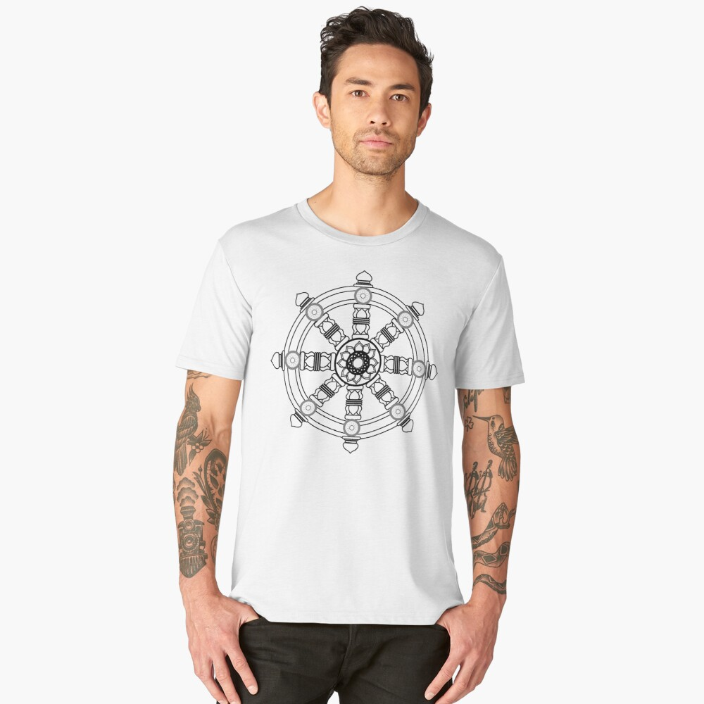 The dharma wheel Men's Premium T-Shirt Front