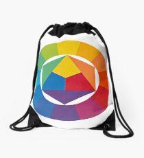 the colour wheel Drawstring Bag