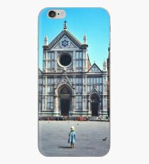 A child in Florence - Basilica of Santa Croce iPhone Case