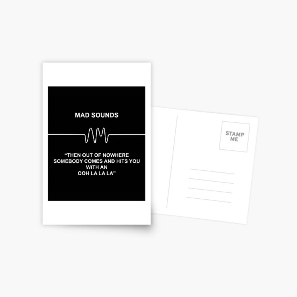 Mad Sounds - Arctic Monkeys AM-Lied Postkarte