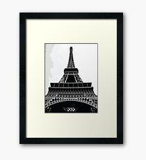 EIFFEL TOWER Pop Art Framed Print