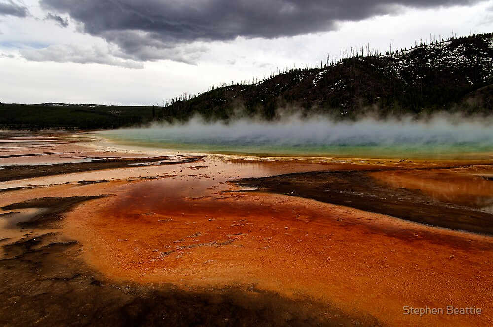 Grand Prismatic Spring by Stephen Beattie