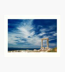 Portara of Naxos Art Print
