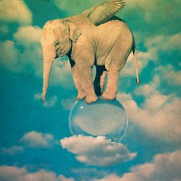 elephant with wings by nickmanofredda