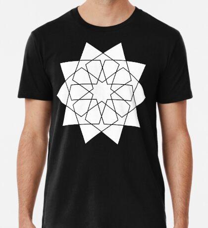 Islamic 10 Pointed Star Black & White Premium T-Shirt