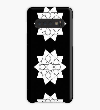 Islamic 10 Pointed Star Black & White Case/Skin for Samsung Galaxy