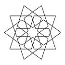 Islamic 10 Pointed Star Black & White by Rupert Russell