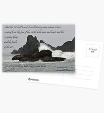 Really Terrible Bible Inspirations Gen. 6:7 Postcards