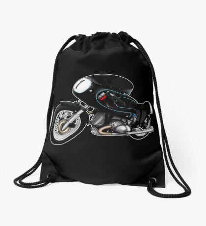Motorcycle T-shirts Art: Black on Black Drawstring Bag