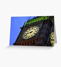 St Stephen's Tower at Night Greeting Card