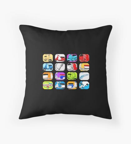 Scooter T-shirts Art: Vintage scooter cube illustration Floor Pillow