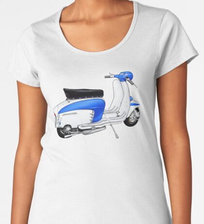 Scooter T-shirts Art: TV 175 Lambretta illustration Women's Premium T-Shirt