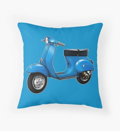 Scooter T-shirts Art: Small Frame Hot Rod scooter  Throw Pillow