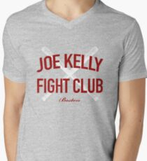 Red Tee Joe Kelly Fight Club Shirt for Boston Fans Men's V-Neck T-Shirt