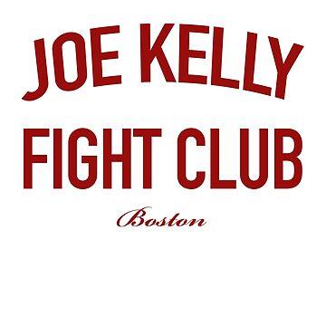 Red Tee Joe Kelly Fight Club Shirt for Boston Fans by DollarPrints