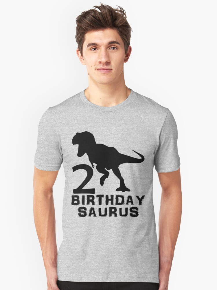 2 Year Old Birthday Party Mens Womens Kids Gift T Shirt Dinosaur Birthdaysaurus Saurus Dino