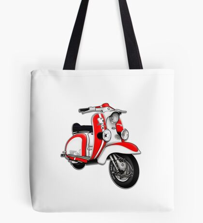 Scooter T-shirts Art: TV 175 Series 1 Mod style racer. Tote Bag