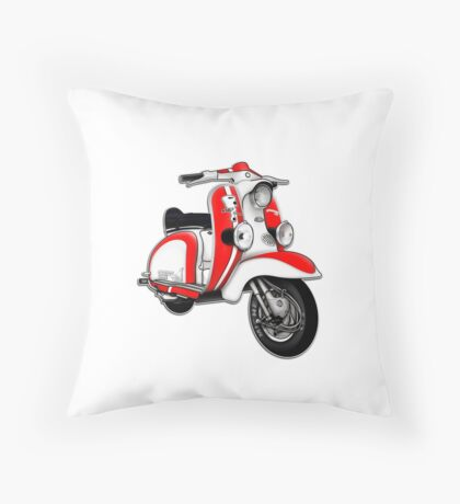 Scooter T-shirts Art: TV 175 Series 1 Mod style racer. Throw Pillow