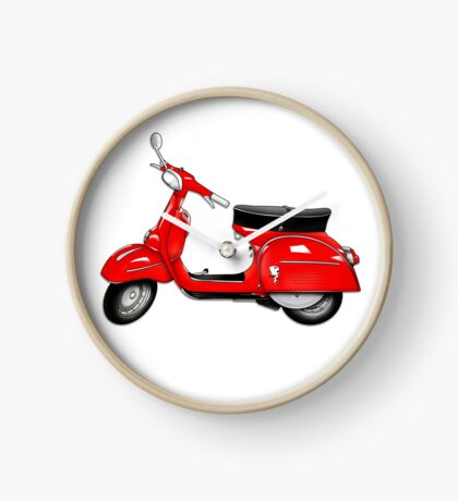 Scooter T-shirts Art: SS 180 Scooter Design Clock