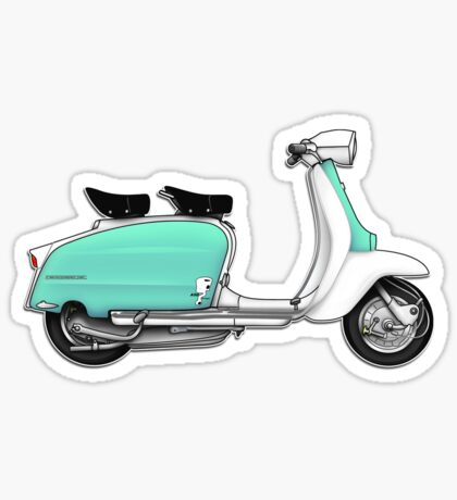 Scooter T-shirts Art: 1960s Li 125 Series 3 Innocenti Scooter Design Sticker