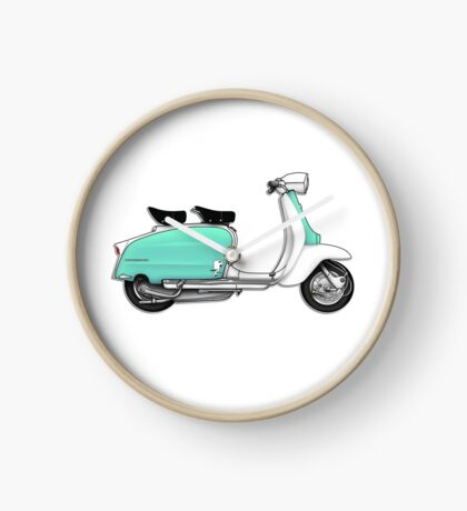 Scooter T-shirts Art: 1960s Li 125 Series 3 Innocenti Scooter Design Clock