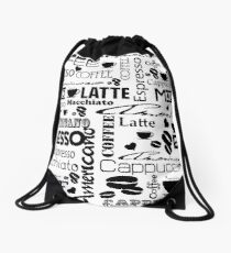 Coffee Style Art Drawstring Bag