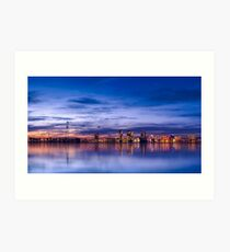 Almere City skyline sunset Art Print