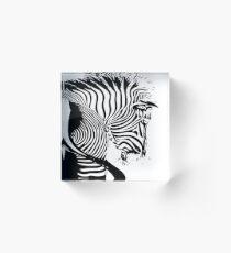 White Zebra graphic series  Acrylic Block